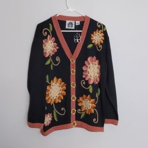 Storybook Knits Sunflower Button Down Cardigan